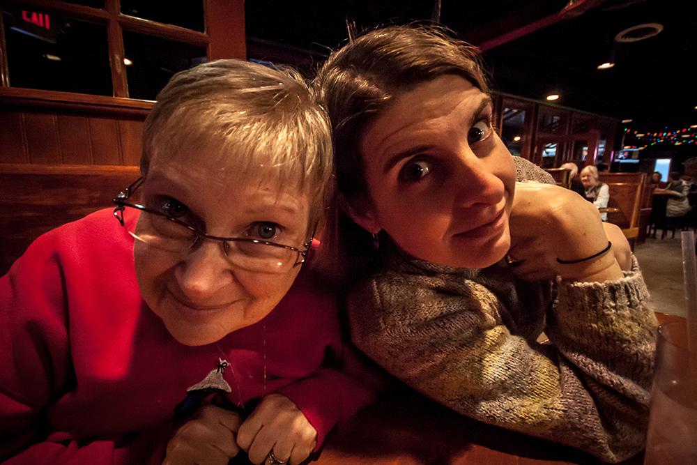 big eyed mama and baby