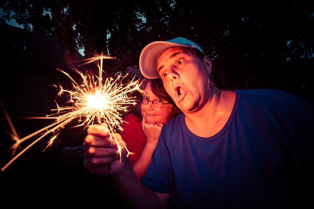 sprinkling sparklers
