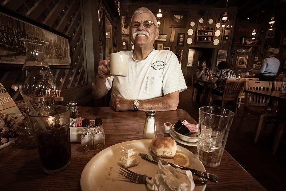 happy breakfast man