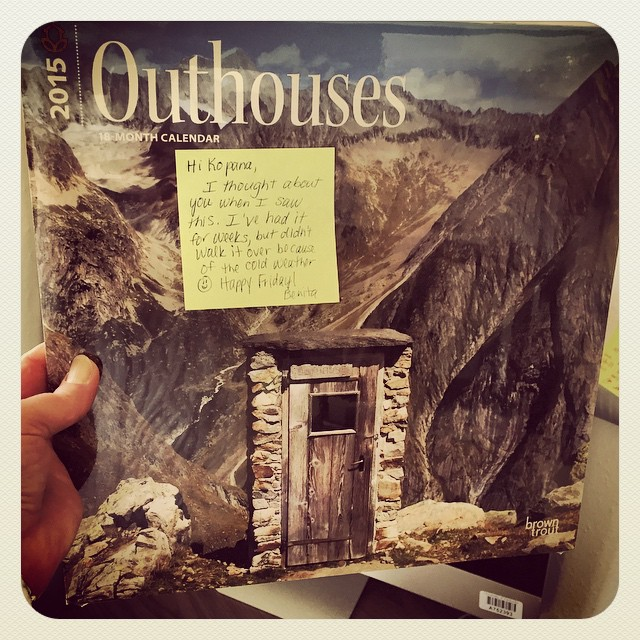 outhouse in the outhouse (instagram)