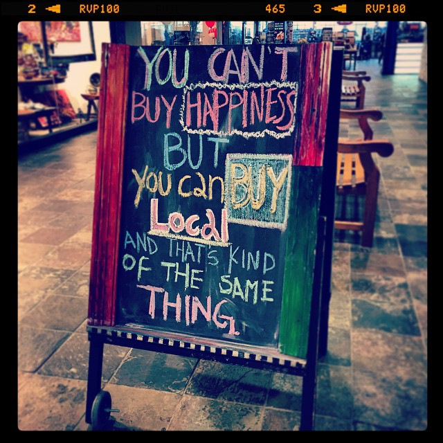 buy local happiness (instagram)