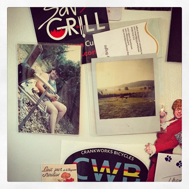 on the freezer (instagram)